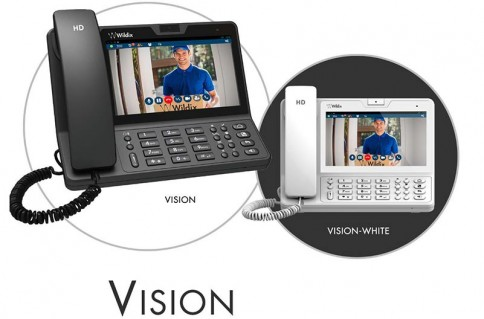 Vision Phone System in Black and White